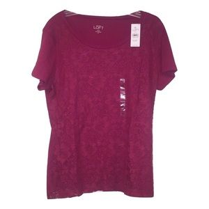 LOFT Tops - [2 for 20] NWT Ann Taylor LOFT Red Lace Top Sz MP